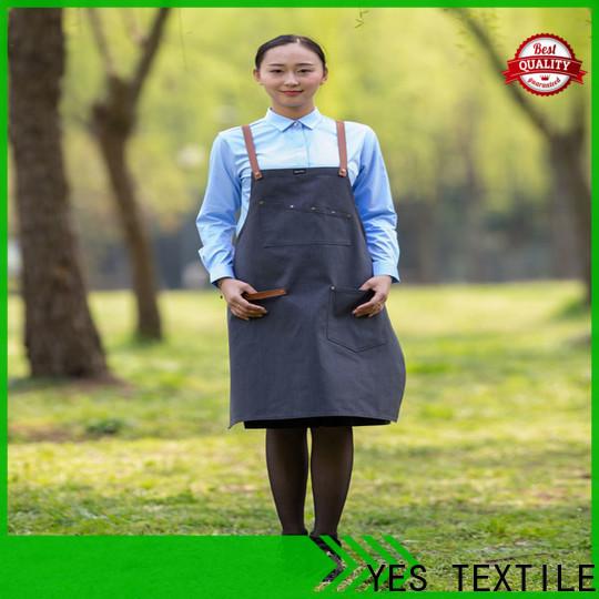 Top striped chef apron denim company for women