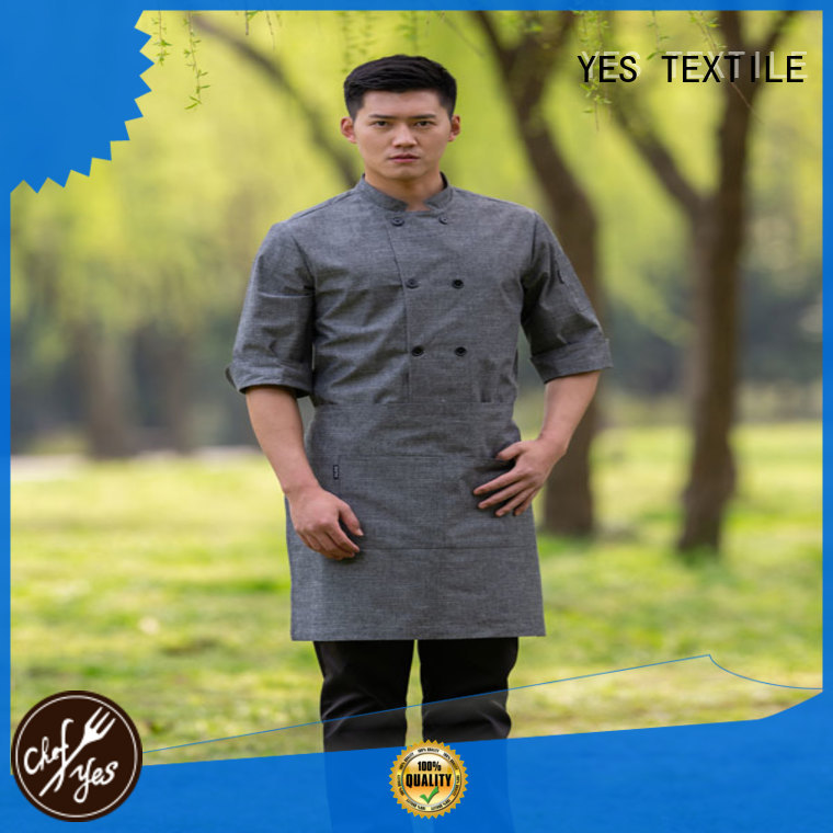 chefyes thin chef uniform store now for hotel