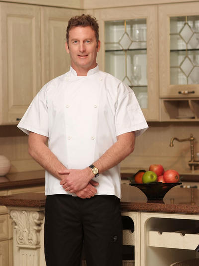 PREMIUM VENTED POLY COTTON CHEF COAT CYJ205S