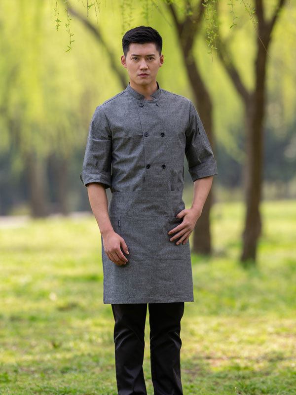 PREMIUM CROSSHATCH CHEF COAT (CYJ061)