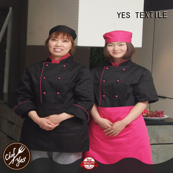 chefyes elastic custom chef coats price for hotel