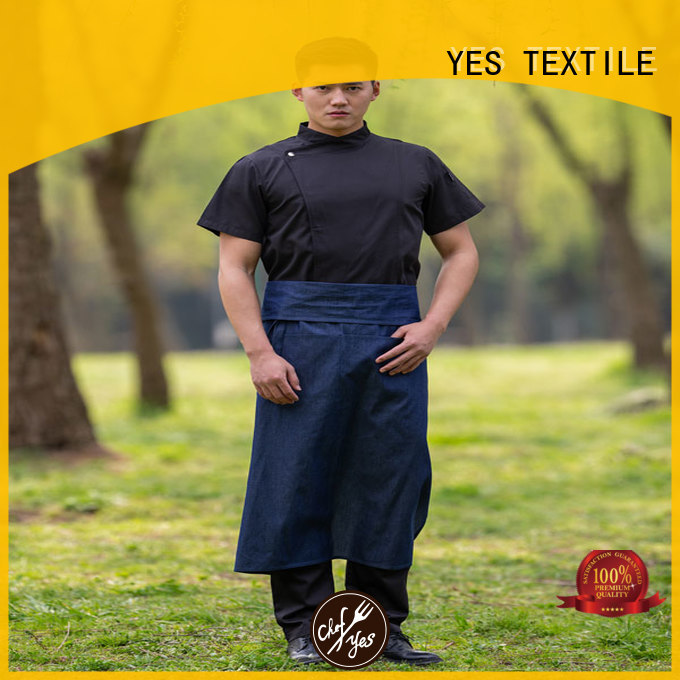 chefyes excutive denim apron now for hotel
